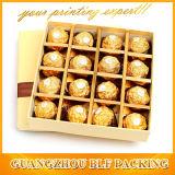 Индивидуальные картонные коробки бумаги шоколада (BLF-GB053)