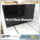 Nero Marquina 10mm Dikke Marmeren Tegel voor de Tegel van de Muur, het Omringen van de Badkamers, de Binnenlandse Tegels van de Bevloering