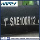 Resistente al aceite hidráulico de alta presión mangueras de goma R12