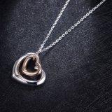 De recentste Halsband van de Tegenhanger van het Hart van de Manier Gouden Dubbele voor Meisjes