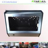 Kundenspezifische schwarzes Puder-überzogene Rahmen-Metalteil-Blech-Herstellung