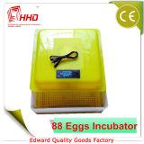 FCC automatique d'incubateurs de mini de poulet d'oeufs des prix usine de Hhd 88 incubateur d'oeufs reconnue