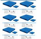 1200X1100 soprando paletes de plástico, paletes de plástico resistente, Revisible paletes de plástico
