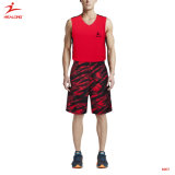 Healong volle Sublimation Feuchtigkeit-Wicking rote blaue Basketball-Uniform 2017
