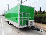 屋外の移動式食糧トレーラー、通りの移動式食糧トラック
