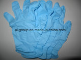 Medical Use를 위한 9 인치 Length Blue Nitrile Examinaiton Gloves