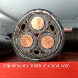 Faisceau solide ou câble isolé par XLPE blindé intérieur Twisted fortement appuyé de fil d'acier d'amende de conducteur de secteur