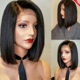 Pelucas llenas cortas del cordón del pelo humano del estilo de Bob para las mujeres negras