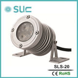 DC12V Single LED Color Material de alumínio 3.8W Silver Spot Light IP65 pode ser usado em Wall, City Illumination