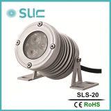 El Foco De plata De 3.8W utilizado en la pared y la iluminación de la ciudad