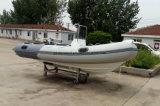 Aqualand 14pieds 4,2 m Rib bateau en fibre de verre/rigide bateau de pêche gonflable (RIB420A)