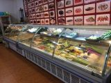 Supermarkt-Feinkostgeschäft-Fleisch-Kühlraum-Schaukasten