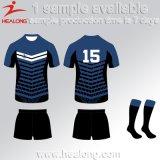Healong modificó el rugbi Jersey de la sublimación para requisitos particulares de la ropa de deportes 3D del diseño