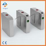 304 barrera aprobada de la solapa de la puerta de seguridad del Ce RFID del acero inoxidable. Puerta de la barrera de las alas con el programa de lectura de RFID