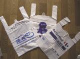 De volledig Automatische Dubbele Plastic Zak die van het Type van T-shirt van de Lijn Machine maken