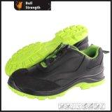 Zapato de seguridad de cuero liso del estilo del deporte con la hebilla de la vuelta (SN5430)