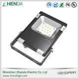 Fábrica al aire libre de las luces de inundación del sensor de movimiento IP65 LED 20W Shenzhen