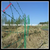 Cierre de alambre recubierto de plástico verde (PVC)