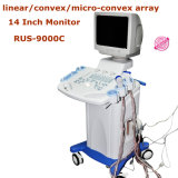 CER-ISO Mark Full Digital Trolley Mobile Ultrasound Scanner (RUS-9000C) mit Convex Linear Transvaginal Probe