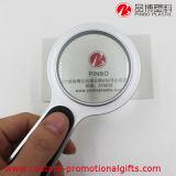 Портативное устройство круглый пластмассовый 3X Лупа со светодиодной лампы