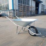 Carga Pesada africana Wheelbarrow sólido galvanizado Francês