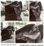 Top Carving Angel Sculpture Memorial Headstone para la venta