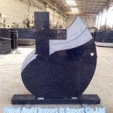 De DwarsdieGrafsteen van het Graniet van de douane als Monument van de Begraafplaats wordt gebruikt