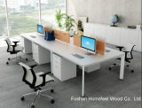Tabela linear moderna da estação de trabalho de Seater da forma 4 da mobília de escritório com divisor da tela (HF-YZL005C)