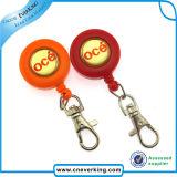 China-beste kundenspezifische transparente einziehbare Abzeichen-Bandspule