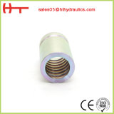 Encaixe de câmara de ar da virola do dobro da compressão do aço inoxidável (00200)