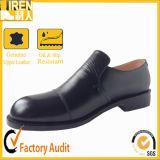 Bureau de la police militaire noire Chaussures en cuir de vache