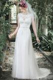 Blosse Boots-Ausschnitt-Brautkleid-tadellose Tulle-Spitze-Hochzeits-Kleider W176281