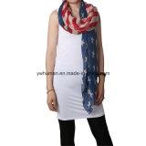 Lange Sjaal van de Vlag van vrouwen de Witte en Blauwe Amerikaanse