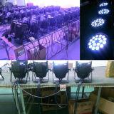 18PCS DMXの専門家RGBWAの紫外線段階15W LEDの同価ライト
