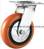 100mm Swivel Plastic Core PUの重義務Caster