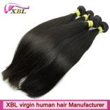 На заводе оптовой Virgin прямые волосы Перу