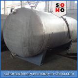 Tanque de armazenamento horizontal do aço inoxidável