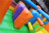 Riesiger Regenbogen-aufblasbares Plättchen mit springendem Prahler Chsl678
