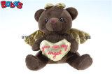 발렌타인 데이 Bos1114 동안 도매가 브라운 견면 벨벳 천사 곰 선물