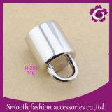 Acessórios do bujão do cabo da extremidade da forma de Bell da corda do metal da prata da liga do zinco