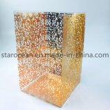 Delicado estampado oro caja plegable de plástico