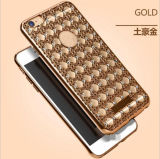 Electroplate Bling Diamond Pattern TPU Case para iPhone6 ​​6s