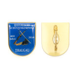 Distintivo riflettente della polizia anziana di rame antica del premio sulle virgolette dei vestiti