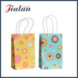Personnaliser le sac de papier de achat estampé de cadeau de transporteur de papier de 4c emballage