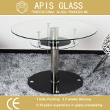 Vente en gros en verre de table de bord Polished ovale de la Chine 6mm/8mm/10mm/12mm