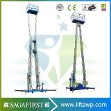 opheffende Platforms van de Ladder van de Legering van het Aluminium van 10m de Mobiele Telescopische Werkende