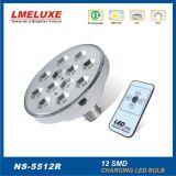12pcs SMD LED avec commande à distance de l'éclairage