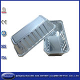처분할 수 있는 음식 패킹 장방형 알루미늄 호일 쟁반