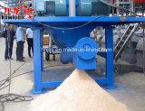 Sucursales/log/residuos palet aplastado en el aserrín de madera de la línea de trituración