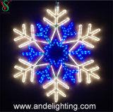 2D Le motif imperméable à l'eau de flocon de neige de Noël allume des décorations